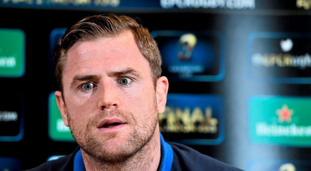 Leinster's Jamie Heaslip during a press conference at Leinster Rugby Offices, UCD, Belfield, Dublin