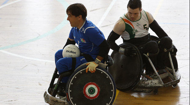 Ireland's Johnny Mulhall in action against Italy earlier this week