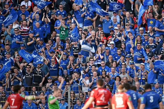 Leinster supporters in full voice against Toulon last year, but their repetitive singing of a Dublin GAA song isn't really representative of the whole of Leinster