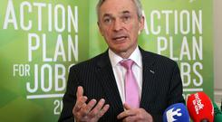 Enterprise Minister Richard Bruton hailed the expansion of Global Shares in Clonakilty, Co Cork, as proof of the inherent strength of the Irish economy and its attractiveness as a place to invest