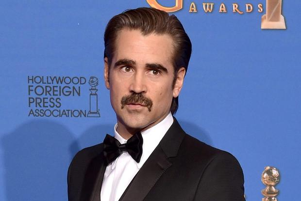 Colin Farrell poses in the press room during the 72nd Annual Golden Globe Awards at The Beverly Hilton Hotel