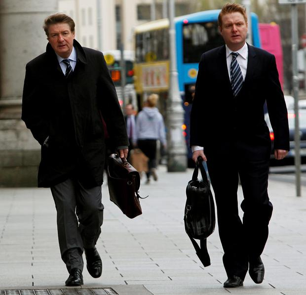 Brian O'Donnell (left) and his son Blake arriving at the Court of Appeal in Dublin Credit: Brian Lawless/PA Wire