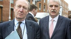REAL POLITICAL BATTLE: Between the Independent Alliance which includes Shane Ross and Finian McGrath, above, and Renua Ireland, launched by Lucinda Creighton,