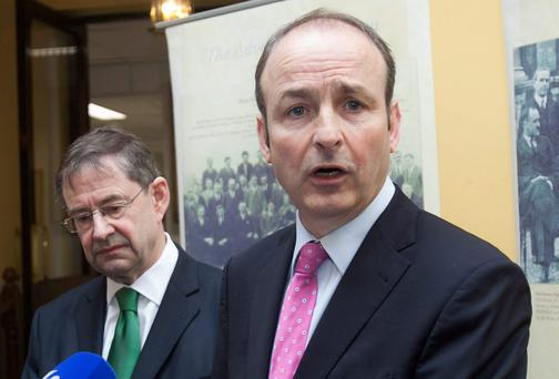 HOLDING ITS OWN: Micheal Martin's party is least toxic in terms of vote transfers