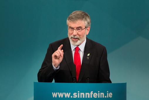 CITED THE PROCLAMATION: Gerry Adams referenced it in relation to austerity, but why should we pay any attention to what the signatories thought about anything?