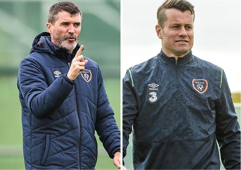Roy Keane and Shay Given