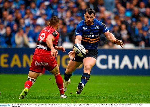 Cian Healy, Leinster, in action against Sebastien Tillous-Borde, Toulon. European Rugby Champions Cup Semi-Final, RC Toulon v Leinster. Stade V?lodrome, Marseilles, France. Picture credit: Stephen McCarthy / SPORTSFILE