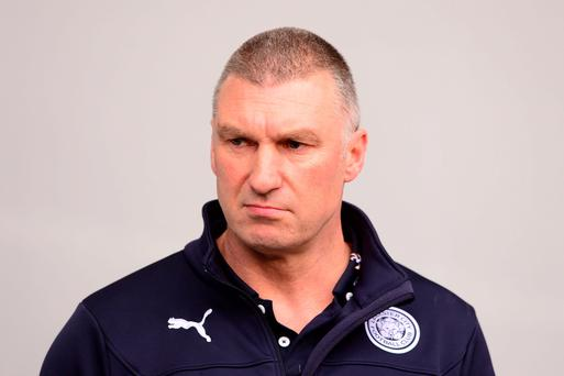 Leicester City manager Nigel Pearson has led his team off the bottom of the table