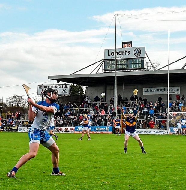 Pauric Mahony strikes the winning point from a free in Nowlan Park