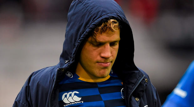 Leinster's Ian Madigan leaves the field dejected