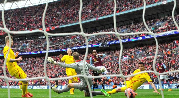 Fabian Delph scores the winner for Aston Villa at Wembley