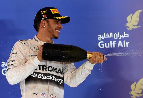 Lewis Hamilton after victory in Bahrain