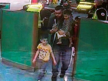 The Malik family caught on CCTV in Dover