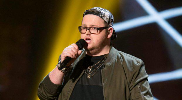 Patrick Donoghue from Team Una during the Semi Final live show of The Voice of Ireland in The Helix