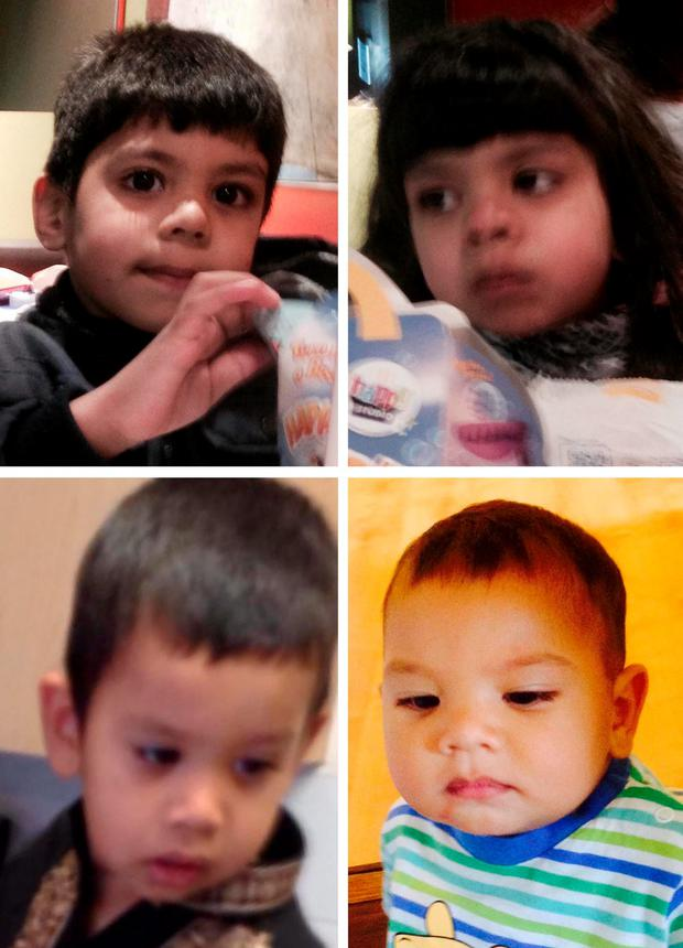 (top row left to right) Essa, Zoha with (bottom row left to right) Zakariya and Yhaya Malik Credit: Thames Valley Police/PA Wire