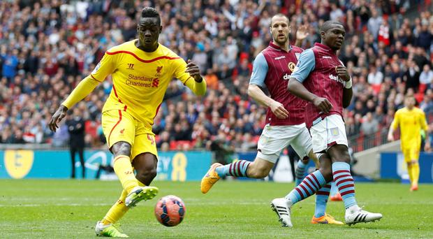 Liverpool's Mario Balotelli scores but is later disallowed for offside Action Images via Reuters / Carl Recine Livepic