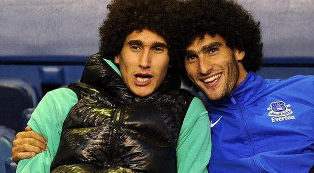 Marouane Fellaini, right, and his brother Mansour