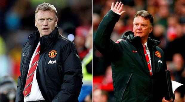 David Moyes and Louis van Gaal