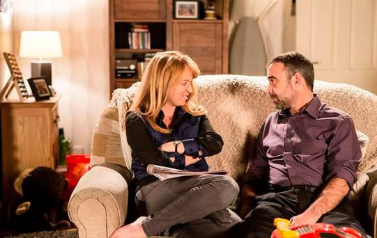 Coronation Street's Jenny Bradley and Kevin Webster. Pic ITV