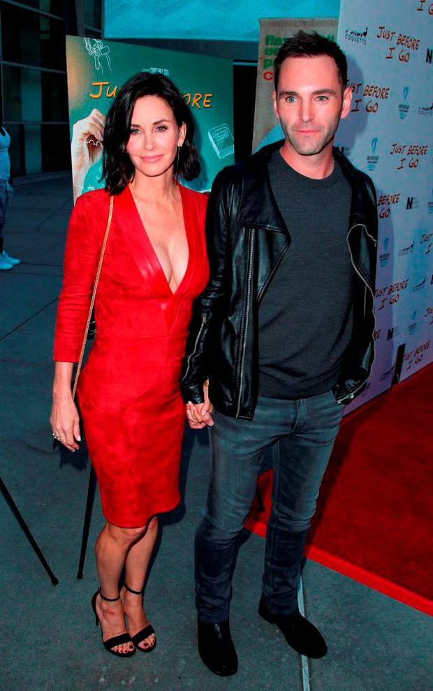Actress/director Courteney Cox (L) and songwritwer Johnny McDaid are believed to have split in November.
