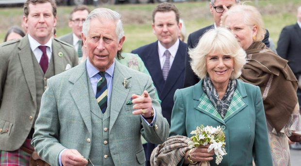 The Prince of Wales and the Duchess of Cornwall, known as the Duke and Duchess of Rothesay in Scotland