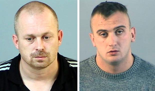 Justin Robertson (left) and Ben Carr was found guilty at Winchester Crown Court of murder and conspiracy to murder of Supermarket worker Pennie Davis. Photo: Hampshire Police/PA Wire