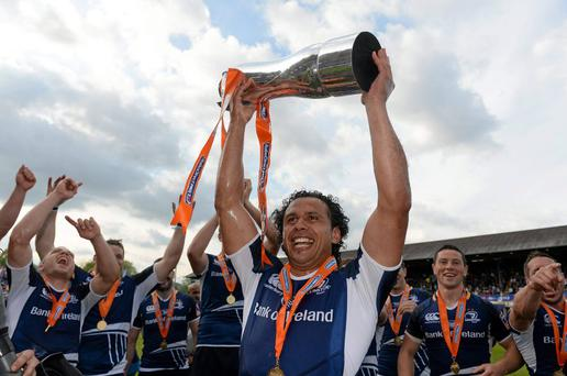 Isa Nacewa, Leinster, celebrates with the cup in 2013. Celtic League Grand Final, Ulster v Leinster, RDS, Ballsbridge, Dublin. Picture credit: Stephen McCarthy / SPORTSFILE