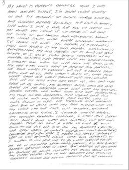 The first page of 13 page hand written letter by Victorino Chua. Photo: CPS/PA Wire