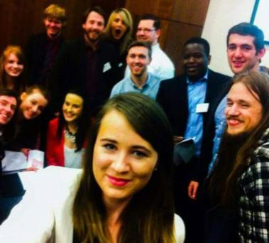 The 'Access Earth' team with Claire Breathnach (front centre) and Matthew McCann (front right)