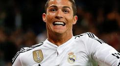 Real Madrid's Cristiano Ronaldo will be joined by Javier Hernadez and James Rodriguez in attack at the Bernabeu tonight, as Karim Benzema and Gareth Bale have been ruled out through injury