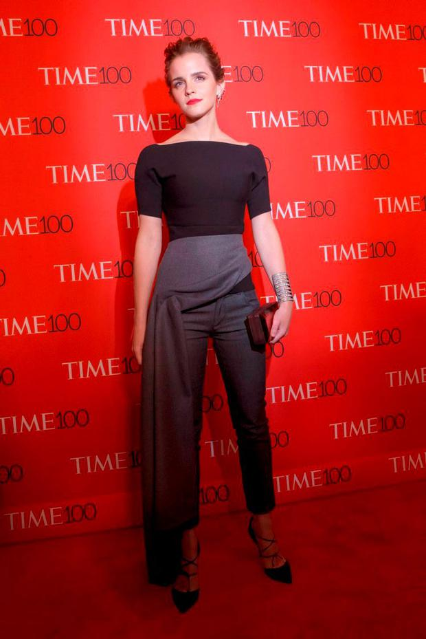 Actress Emma Watson arrives for the TIME 100 Gala in New York April 21, 2015. REUTERS/Brendan McDermid