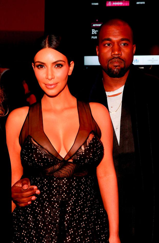 Kim Kardashian and Kanye West attend the 2015 TIME 100 Gala cocktail reception, to celebrate the 100 most influential people in the world