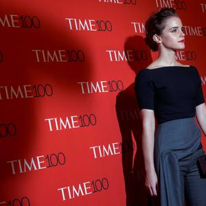Actress Emma Watson arrives for the TIME 100 Gala in New York. Reuters/Brendan McDermid
