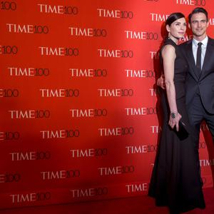 Actress Julianna Margulies (left) arrives with her husband Keith Lieberthal for the TIME 100 Gala in New York. Reuters/Brendan McDermid