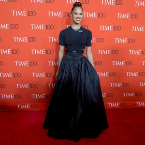 Dancer Misty Copeland arrives for the TIME 100 Gala in New York. Reuters/Brendan McDermid
