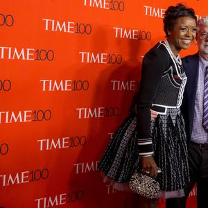 Director George Lucas and his wife Mellody Hobson arrive for the TIME 100 Gala in New York. Reuters/Brendan McDermid