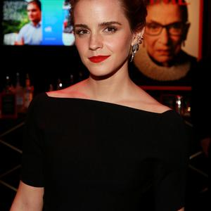 Actress Emma Watson attends the 2015 TIME 100 Gala cocktail reception, to celebrate the 100 most influential people in the world. (Photo by Amy Sussman/Invision/AP)