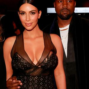Kim Kardashian and Kanye West attend the 2015 TIME 100 Gala cocktail reception. (Photo by Amy Sussman/Invision/AP)