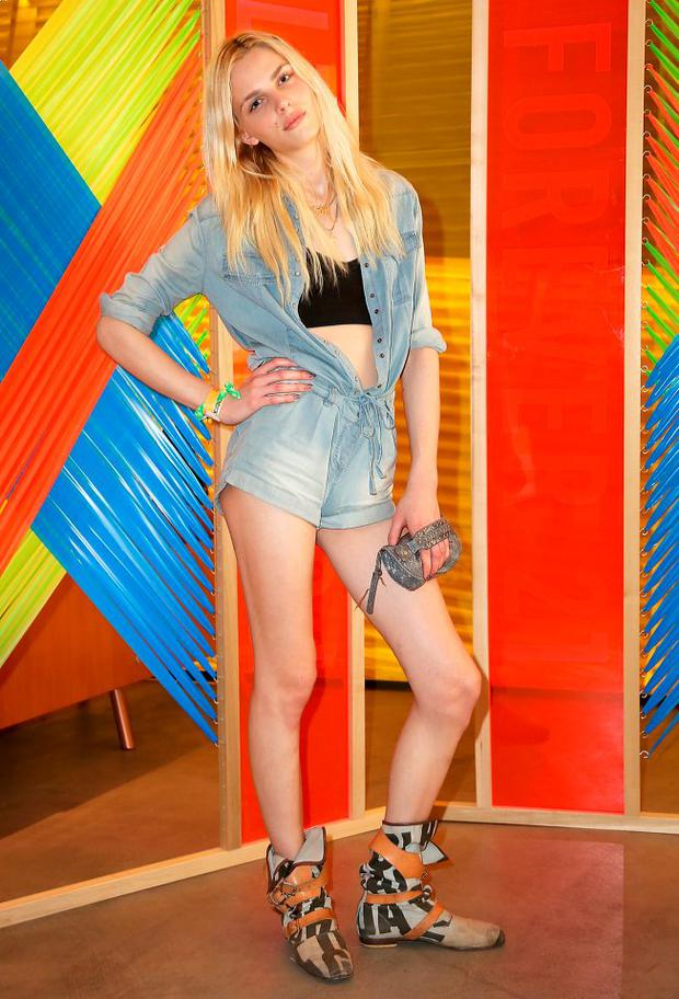 Model Andrej Pejic attends Forever 21 Desert Disco at Saguaro Hotel on April 12, 2013 in Palm Springs, California. (Photo by Rachel Murray/Getty Images for Forever 21)