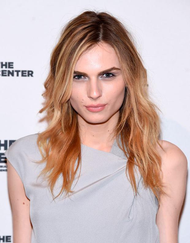 Andreja Pejic attends The 2015 Center Dinner at Cipriani Wall Street on April 2, 2015 in New York City. (Photo by Jamie McCarthy/Getty Images)