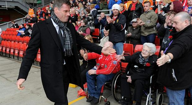 Jamie Carragher has been recognised for his charity work