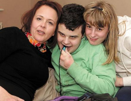 Jane Johnstone with her son Evan and daughter Ciara