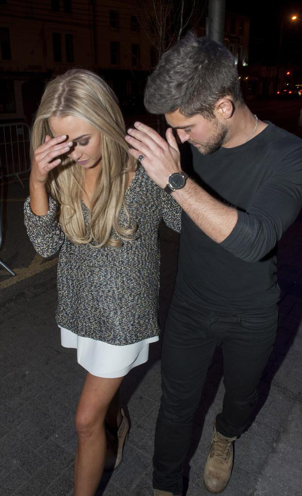 Nicola Hughes & Alex Mytton made a private visit to the Naas Court Hotel Nightclub where they first met 9 months ago.