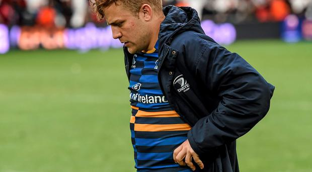 A dejected Ian Madigan leaves the pitch after Leinster's extra-time defeat to Toulon last Sunday