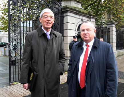 Former IBRC chairman Alan Dukes and ex CEO Mike Aynsley
