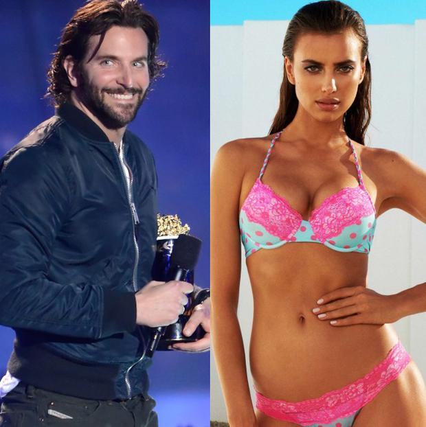 Bradley Cooper (left) and Irina Shayk (right)