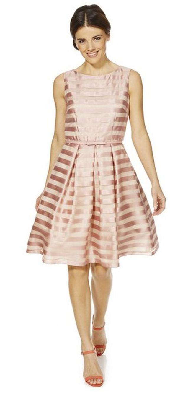 F&F Signature Organza Stripe Prom Dress, €58.50 at Tesco