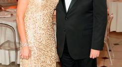 Andy O'Hara CEO Edward Dillon & Co and Miriam O'Callaghan at Hennessy's 250th gala dinner, which took place in Dublin City Hall