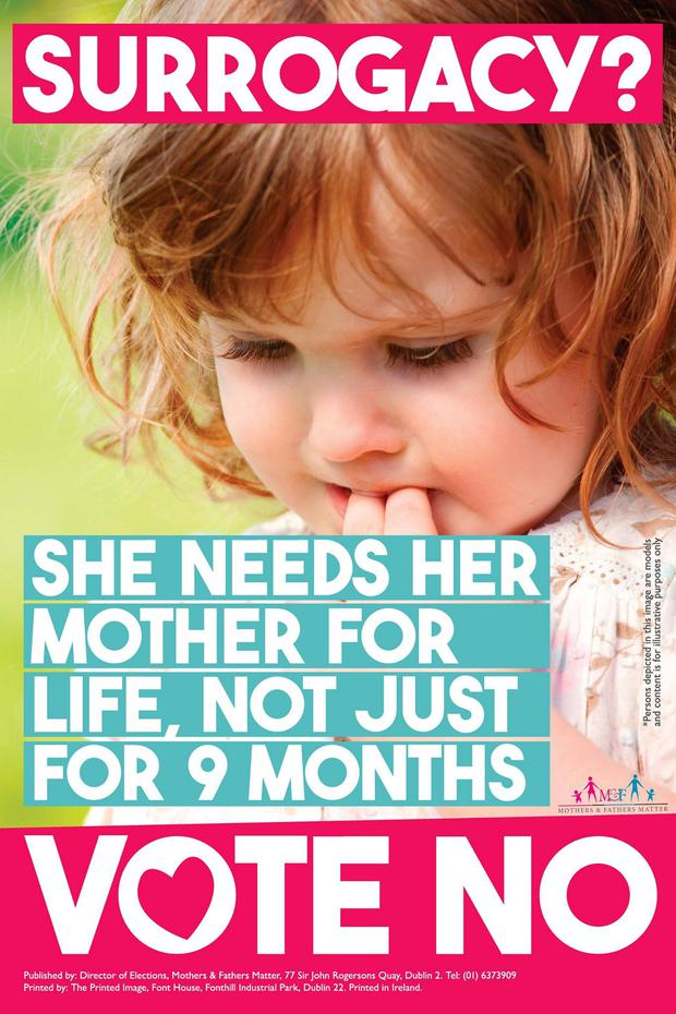 The poster is among three that will be posted up by the group 'Mothers & Fathers Matter'
