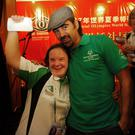 Hollywood actor Colin Farrell with Carol Nairn, from Ferrybank in Waterford, who represented Ireland on a basketball team at the 2007 Special Olympics